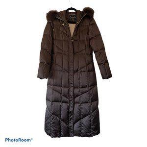 1 Madison S Long Down Puffer Coat Fox Fur Trim